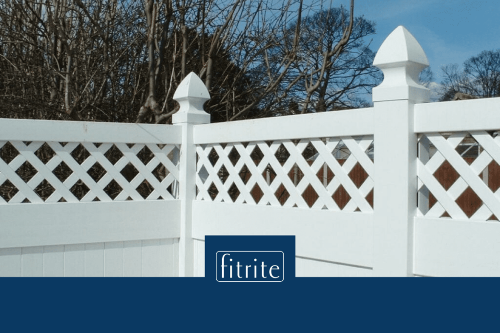 white pvc fencing with trellis effect