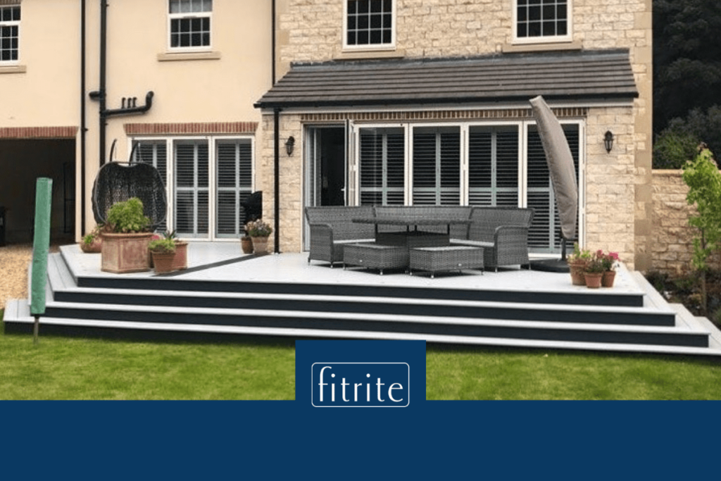 decking in nature with seating area
